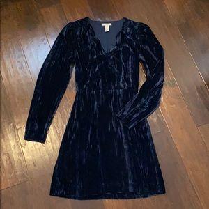 Beautiful blue velvet dress